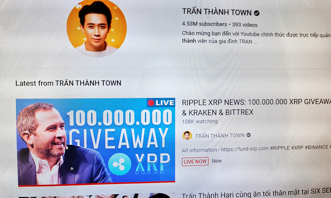 Kênh youtube của những người nổi tiếng bất ngờ bị hack