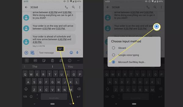 Thủ thuật hay chuyển đổi bàn phím trên Android